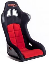 Corbeau Sprint Black Red cloth Bucket Motorsport Seat FIA Track Day Kevlar GRP