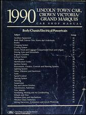 1990 Ford Shop Manual Town Car Crown Victoria Grand Marquis 90 Lincoln Mercury