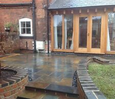 NATURAL SLATE PAVING, LAVA SLATE, mixed patio pack 10.2m2, slabs / tiles