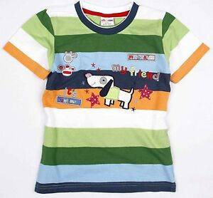 BOYS SHORT SLEEVE T SHIRT DOG AND PAWS APPLIQUE 18-24, 2-3, 3-4, 4-5, 5-6 YEAR