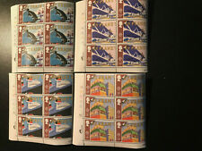Gb Qeii Sg 1392-1395 Europa Transport Set Cylinder Blocks of 6 1988 Stamps Mnh