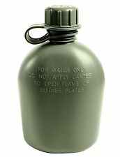 Genuine GI 3 PC One Quart Canteen Olive Drab OD Green 1 Qt Canteens US Made
