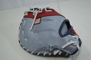 Suncoast Softball Player Series First Baseman Glove Red White Blue Custom RHT