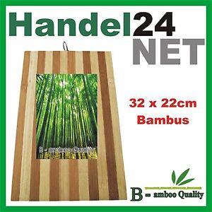 """""""B - amboo Quality"""" MASSIV BAMBUS SCHNEIDBRETT KÜCHENBRETT SCHNEIDEBRETT 32x22cm"""