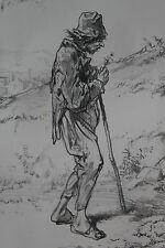 GAVARNI Lithographie originale série PHYSIONOMIES PARISIENNES - PHILOSOPHE