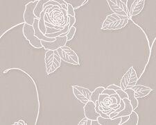 AS 32832-4 Grey White Floral Glitter Wallpaper Roses Flower