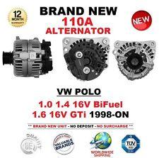 FOR VW POLO 1.0 1.4 16V BiFuel 1.6 16V GTi 1998-ON BRAND NEW 110A ALTERNATOR