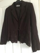 MARKS and SPENCER dark brown linen blend jacket size 14