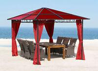 hardtop pavillon 3x3 6m doppelstegplatten polycarbonat. Black Bedroom Furniture Sets. Home Design Ideas