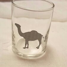Vintage Camel Cigarettes Glass Tea Candle Holders with etched/painted Camel Lot