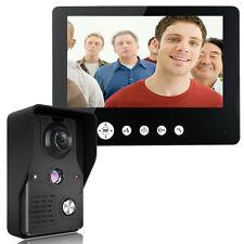 9 Inch Video Door Phone Doorbell Intercom Kit 1-Camera 1-Monitor Night Vision US