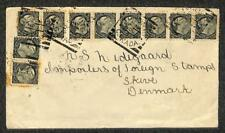 TORONTO CANADA SCOTT #34 (x10) STAMPS TO SKIVE DENMARK COVER 1896