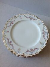 Early 1900s Pink Roses And Blue Bows Charles Field Haviland French Limoges