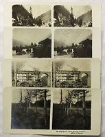 4 Doppelbilder Stereofotos Polen 1. Weltkrieg WK um 1915 Geschichte Militär xz