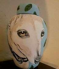 Custom Pet urn memorial dog urn greyhound Italian whippit pet portrait
