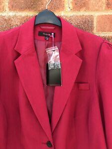 Simply Be Ladies Raspberry Pink Jacket Blazer Size 22