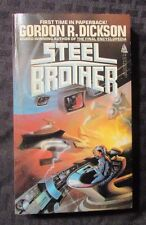1985 STEEL BROTHER by Gordon R Dickson 1st TOR Paperback VF