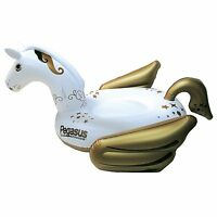 Swimline 90707 Giant Pegasus Inflatable Ride On Swimming Pool Float Lounger
