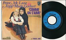 "EUROVISION 1972 45 TOURS 7"" FRANCE ANNE-MARIE GODART COMME ON S'AIME"