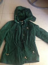 Used Zara Basic Dark Green Quilted Effect Light Coat Size Medium