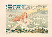 Casino de Cabourg by Theodore Privat Livemont 90cm x 64cm Art Paper Print