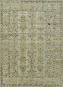 Oushak Anatolia 10'x14' Grey Wool Hand-Knotted Oriental Rug