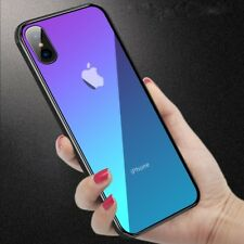 Tempered GLASS BACK New Shockproof Hybrid Case Cover For iPhone X 10 7 8 6s Plus