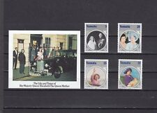 VANUATU - SG406-MS410 MNH 1985 LIFE & TIMES OF THE QUEEN MOTHER