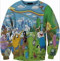 Fashion Women/Men 3D Print Adventure time Pullover Sweatshirt Hoodies CH14