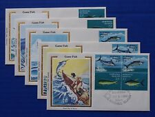 "Marshall Islands (124-127) 1986 Game Fish Colorano ""Silk"" Fdcs"