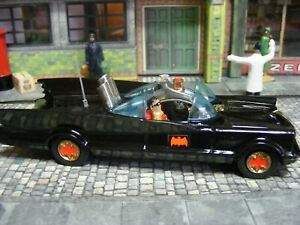 Corgi 267 Batmobile Red Bat Hubs with tow hook  Gloss Black 1966 door error