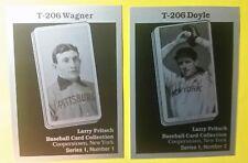Lot of 2 T206 Aluminum  BASEBALL CARD Reprint: HONUS WAGNER & Joe Doyle Fritsch