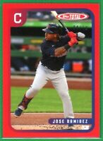 2020 Topps Total Wave 9 #840 JOSE RAMIREZ Red Parallel 4/10 Cleveland Indians