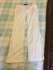 Marccain White Ladies Trousers Cotton N2 10 or 12 worn once