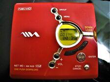 Rare Red MiniDisc Aiwa Am-Nx9 Md Walkman NetMd Player Recorder