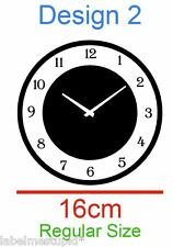 CLOCK Wall Sticker for In these moments design names. 3 Designs