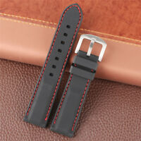 22mm 24mm Sport Rubber Watch Strap Silicone Band Replacement Bracelet Waterproof