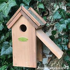 Chunky wood bitumen roof Bird House Nest Box for Wren /other small garden birds