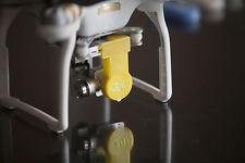 DJI Phantom 3 Translucent Yellow Gimbal Lock & Lens Cap 3d printed