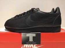 """Nike Classic Cortez Leather """"Triple Black""""~ 749571 002 ~Uk Size 9.5 ~ Euro 44.5"""
