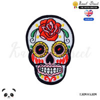 Sugar Skull Mexican Embroidered Iron On Sew On Patch Badge For Clothes etc