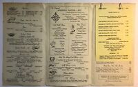 Vintage 1964 Hogate's Seafood Restaurant Dining Menu Washington DC