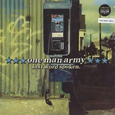 One Man Army - Last Word Spoken Tan Swirl Vinyl  (LP - 2000 - US - Reissue)