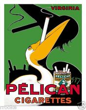 Pelican Cigarettes Virginia Tobacco Vintage French Art Deco Ad Fine Art Print