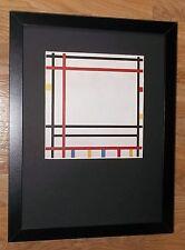 Piet Mondrian print -12''x16'' Framed Mondrian print, New York by Mondrian