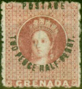 Grenada 1881 2 1/2d Rose-Lake SG22 Fein MTD Mint