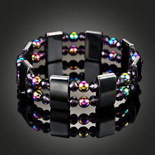 Unisex Multi-Color Bead Magnetic Hematite Bracelet Pain Relief Jewellery Healthy