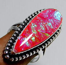 Australian Triplet Opal 925 Sterling Silver Plated Jewelry Ring Us Size 10.25''
