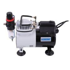 Airbrush Compressor Stencil Kit Spray Air Brush Model Train Decorating System