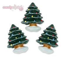 6 x Cute Christmas Tree & Snow Festive Xmas Flat back Cabochons Decoden Kawaii